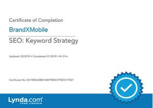 SEO Keyword Strategy Certificate